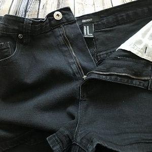 Forever 21 Shorts - HI RISE BLACK BOOTY SHORTS SZ 30 FOREVER 21